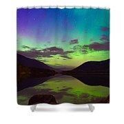 Kootenay Lake Northern Lights Shower Curtain