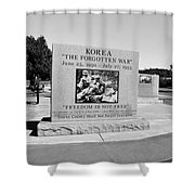 Korea The Forgotten War  Shower Curtain