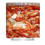 Korean Style Fermented Spicy Cabbage Shower Curtain