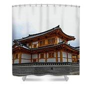 korean style house II Shower Curtain
