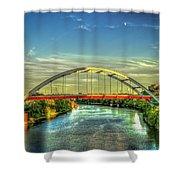 Korean Veterans Memorial Bridge 2 Nashville Tennessee Sunset Art Shower Curtain