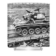 Korean War, 1951 Shower Curtain