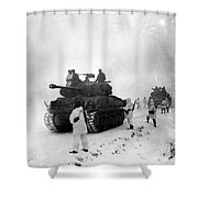 Korean War: Allied Forces Shower Curtain
