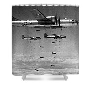 Korean War: B-29 Bombers Shower Curtain