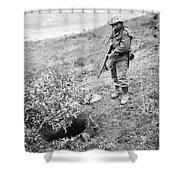 Korean War: Foxhole, 1951 Shower Curtain