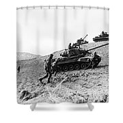 Korean War: Infantrymen Shower Curtain