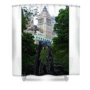 N Y Korean War Memorial 2 Shower Curtain