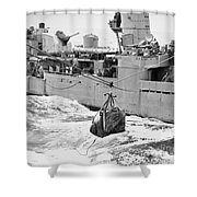 Korean War: Navy Mailbag Shower Curtain