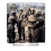 Korean War: Prisoners Shower Curtain