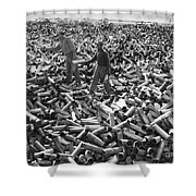 Korean War: Shell Casings Shower Curtain