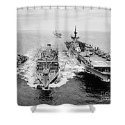 Korean War: Ship Refueling Shower Curtain