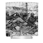 Korean War: Soldiers Shower Curtain