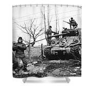 Korean War: Tank, 1951 Shower Curtain
