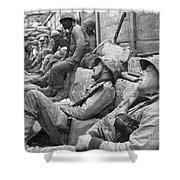 Korean War: U.n. Troops Shower Curtain