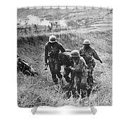 Korean War: Wounded, 1950 Shower Curtain