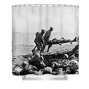 Korean War: Wounded Shower Curtain