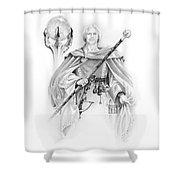 Korranderaythe Von Cristalvasser Shower Curtain