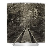 Koto-in Zen Temple Forest Path - Kyoto Japan Shower Curtain