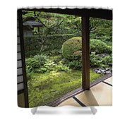 Koto-in Zen Temple Side Garden - Kyoto Japan Shower Curtain