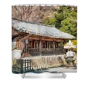 Kotoku-in Temple Shower Curtain