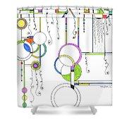 Kp Spirals Shower Curtain