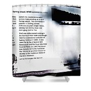 Mv Krait Historical Information Shower Curtain