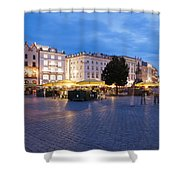 Krakow Main Square By Night Shower Curtain