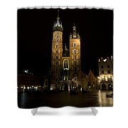 Krakow Saint Marys Basilica Shower Curtain