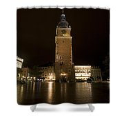 Krakow Town Hall Tower Shower Curtain