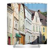 Kreme City Street Shower Curtain
