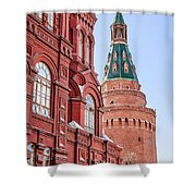 Kremlin Tower In Moscow Shower Curtain