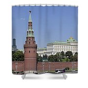 Kremlin Wall Panorama Shower Curtain