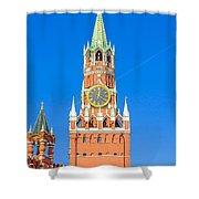 Kremlin's Clock Tower Shower Curtain