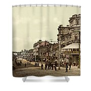 Krestchatik Street In Kiev - Ukraine - Ca 1900 Shower Curtain