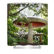 Krider Garden Mushroom Shower Curtain