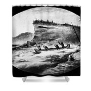 Krieghoff: Canoe On Rapids Shower Curtain