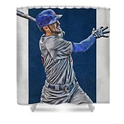 Kris Bryant Chicago Cubs Art 3 Shower Curtain