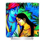 Krishna And Radha Shower Curtain