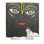 Krishna With Cow Shower Curtain