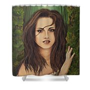 Kristen Stewart Shower Curtain