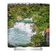 Krka Waterfall Croatia Shower Curtain