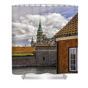 Kronborg Castle From The Moat House Shower Curtain