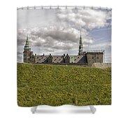 Kronborg Castle Moat Mound Shower Curtain
