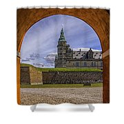 Kronborg Castle Through The Archway Shower Curtain
