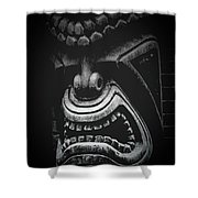 Ku Kii Tiki Hawaiian Culture Wood Carvings Demigods Shower Curtain