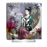 Kuan Yin Lotus Of Healing Shower Curtain