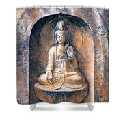Kuan Yin Meditating Shower Curtain