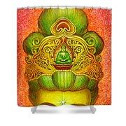 Kuan Yin's Buddha Crown Shower Curtain