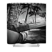 Kuau Palm Trees Hawaiian Outrigger Canoe Paia Maui Hawaii Shower Curtain