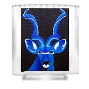 Kudu Blue Shower Curtain